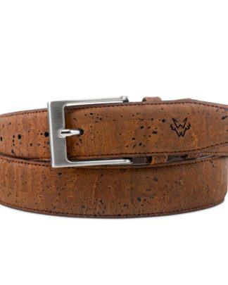 Watson & Wolfe Cork Belt in Brown   Ethical State