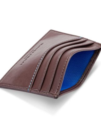 Watson & Wolfe Slim Card Holder in Chestnut   Ethical State