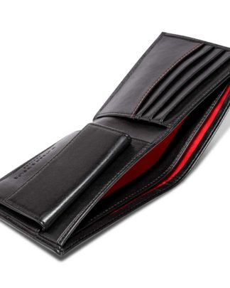 Watson & Wolfe Coin Wallet in Black   Ethical State