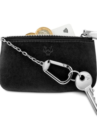Watson & Wolfe Key & Card Case in Black   Ethical State