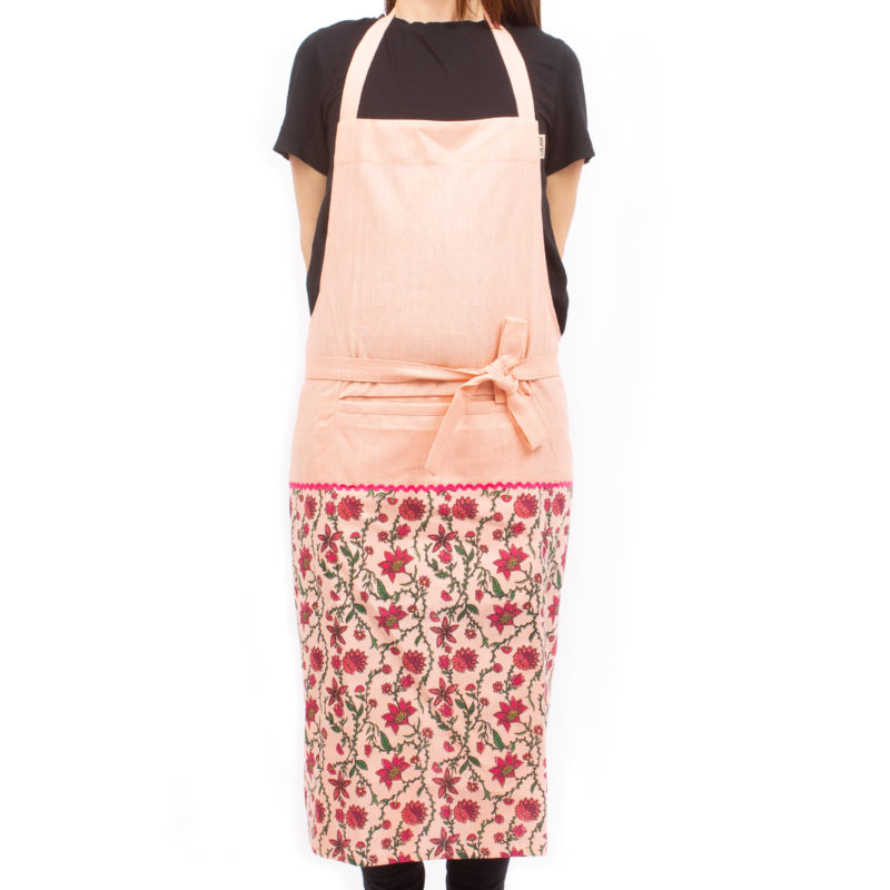 Bahar Floral Aprons in Pink