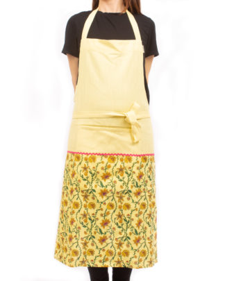 Bahar Floral Aprons in Yellow